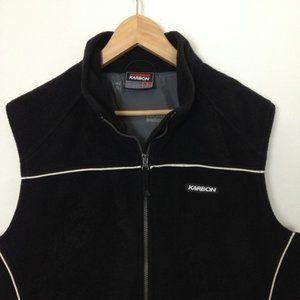 Karbon Toronto Canada Men L Black Zip Fleece Vest